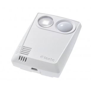 testo 160 THL - rádiový záznamník dat s integrovanými senzory pro teplotu, vlhkost, lux a UV-záření